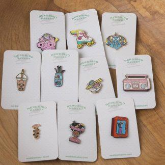 Enamel Pins & Stickers