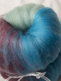 Beautiful Green-Blue-Purple Gradient Mini Batt (170119)