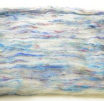Gorgeous Textured batt with Sari Silk (Batt 180567)