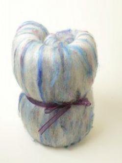 Gorgeous Textured batt with Sari Silk (Batt 180567)