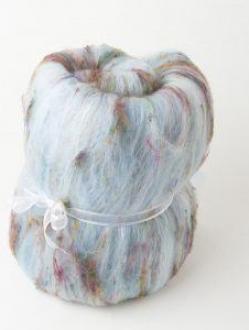 Textured Large Batt with Sari Silk (Batt 190711)