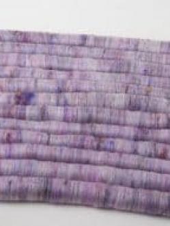 Subtle Purple Rolag Set with Sari Silk (Batt 200882)