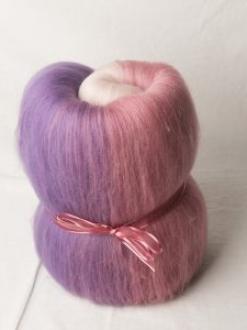Pink to Purple Large Gradient Batt (180414)