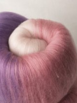 Pink to Purple Large Gradient Batt (180414)