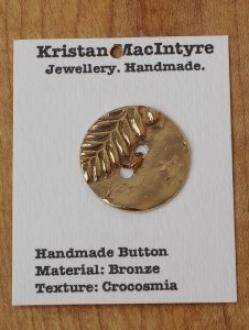 Medium Hand Crafted Bronze Button