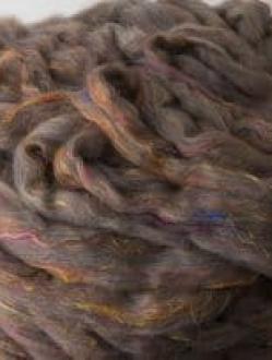 Merino/Yak/Sari Silk Pin Drafted Roving