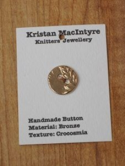 Small Hand Crafted Bronze Button