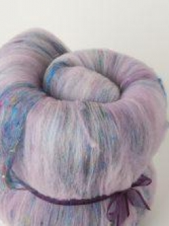 Decadent Large Batt with Sari Silk (Batt 190747)