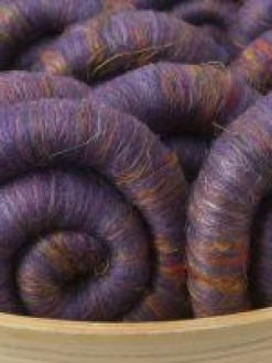 Rich Deep Purple with Sari Silk Rolag Set (Batt 190763)