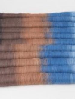 Black, Brown and Blue Gradient Rolag Set (Batt 200788)