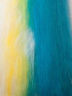 Mini gradient Batt from White to Yellow to Teal (160036)
