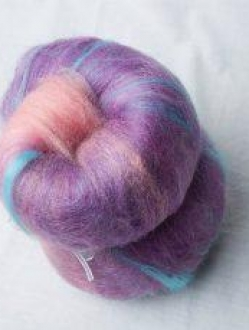 Mini Gradient Batt from Pink to Purple with Hits of Blue (160049)