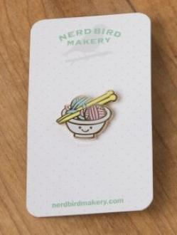 Nerd Bird Makery Pins
